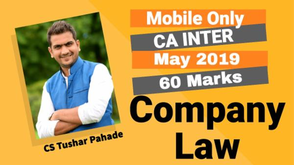 Company Law for CA Inter | May 2019