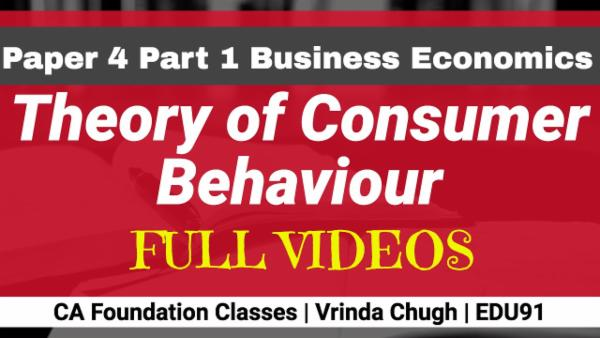 Theory of Consumer Behaviour | CA Foundation | Business Economics cover