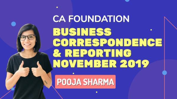 CA Foundation | Business Correspondence & Reporting | Nov 2019 cover