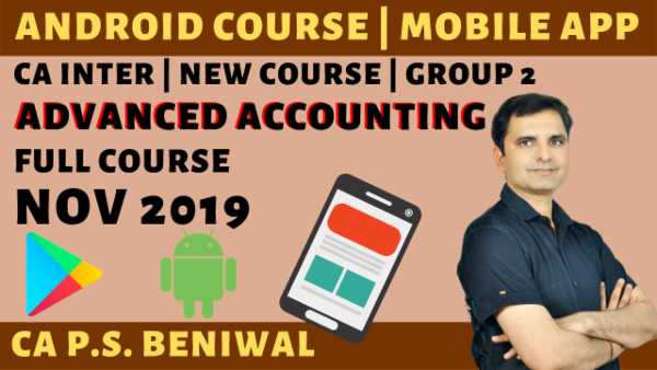 Advanced Accounting(Paper-5) CA Inter | Nov 2019 cover