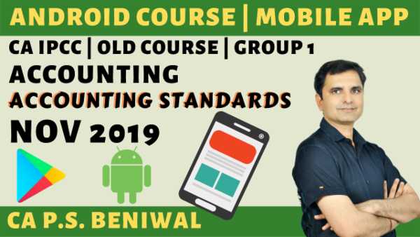 CA IPCC Accounting Standards Nov 2019 | Group-1 cover