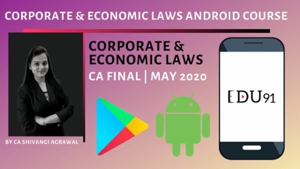 Corporate and Economic Laws CA Final | New Course May 2020 cover