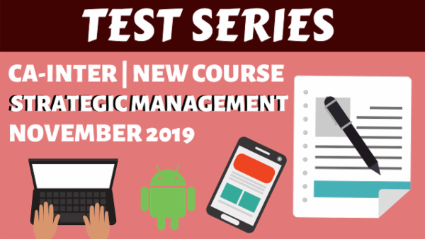 Strategic Management Test Series for November 2019 | CA Inter cover