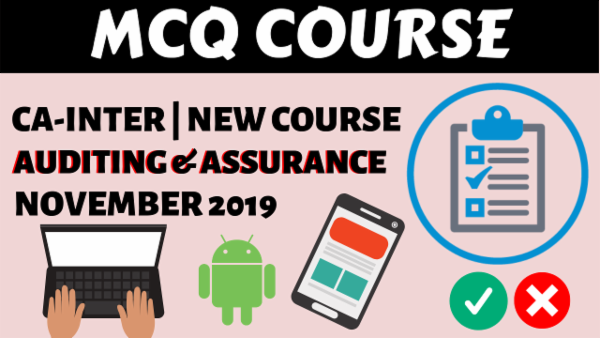 Audit MCQs for November 2019 | CA Inter cover