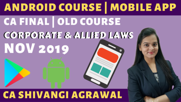 Corporate and Allied Laws CA Final | Old Course Nov 2019 cover