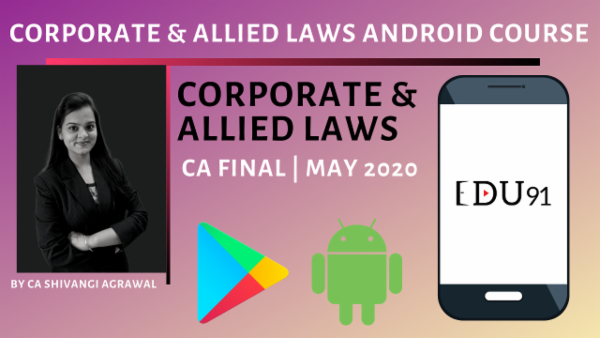 Corporate and Allied Laws CA Final | Old Course May 2020 cover