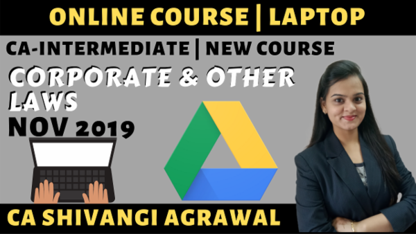 CA Inter Corporate & Other Laws Online Course for Nov 2019 cover