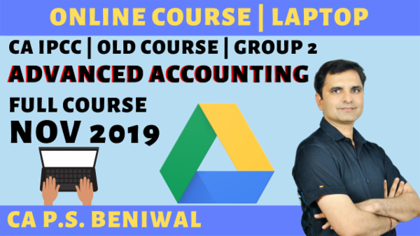 CA IPCC Advanced Accounting Online Course for Nov 2019 cover