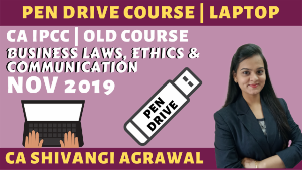 CA IPCC Business Laws, Ethics & Communication PENDRIVE | Nov 2019 cover