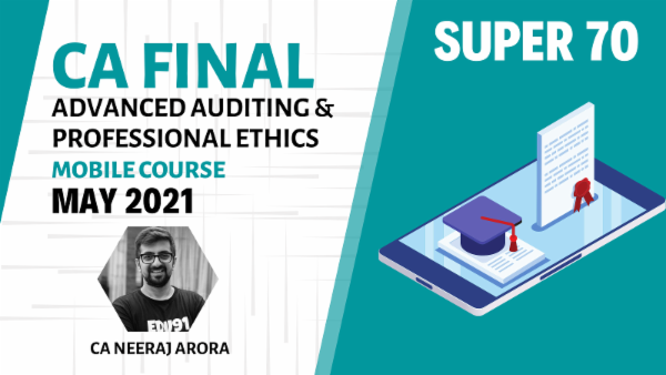 CA Final Advanced Auditing and Professional Ethics - Android App - May 2021 - Super 70 cover