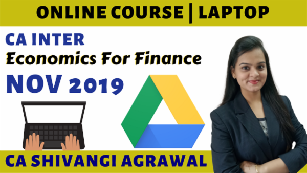 CA Inter Economics for Finance Online Course for Nov 2019 cover