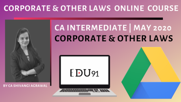 CA Inter Corporate & Other Laws May 2020 | Online Laptop cover