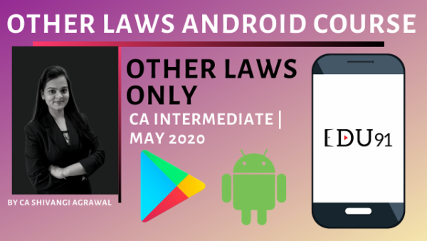 CA Inter Other Laws May 2020 | Mobile App cover