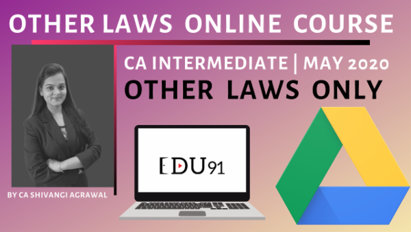 CA Inter Other Laws May 2020 | Online Laptop cover