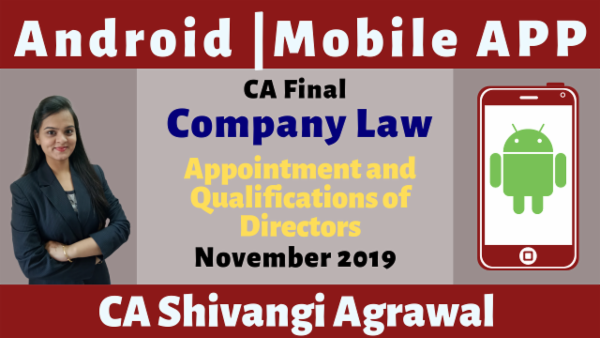 CA Final Appointment and Qualifications of Directors N19 | Mobile App cover
