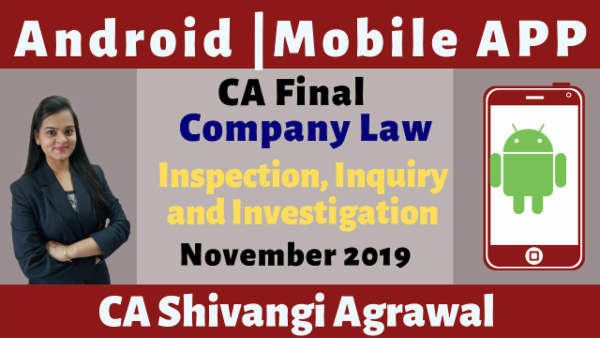 CA Final Inspection, Inquiry and Investigation N19 | Mobile APP cover