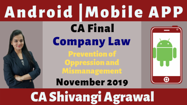 CA Final Prevention of Oppression and Mismanagement N19 | Mobile App cover