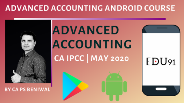 CA IPCC Advanced Accounting May 2020 | Mobile App cover