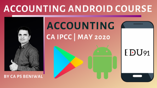 CA IPCC Accounting May 2020 | Mobile App cover