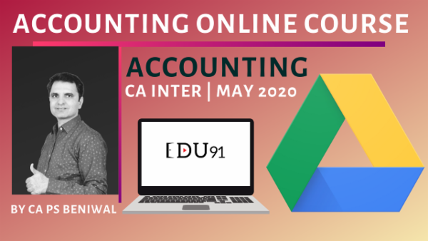 CA Inter Accounting May 2020 | Online Laptop cover
