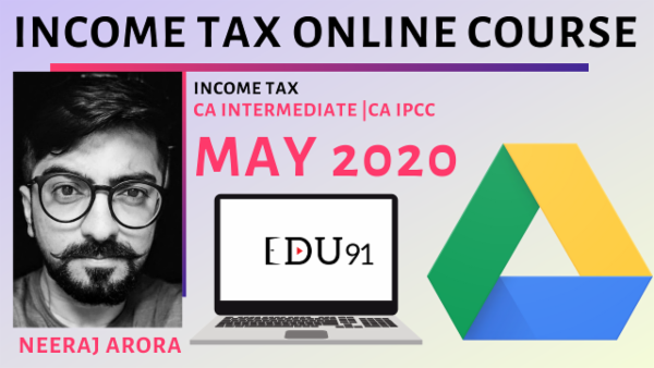 CA Inter/IPCC Income Tax May 2020 | Online Laptop cover