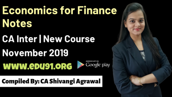 Economics for finance Notes November 2019 cover