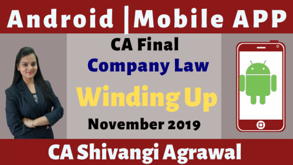 CA Final Winding Up N19 | Mobile App cover