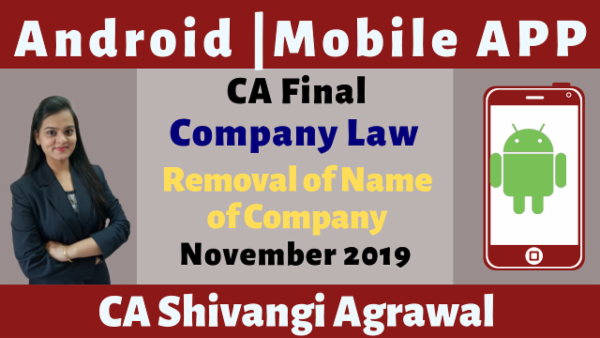 CA Final Removal of Name of Company N19 | Mobile App cover