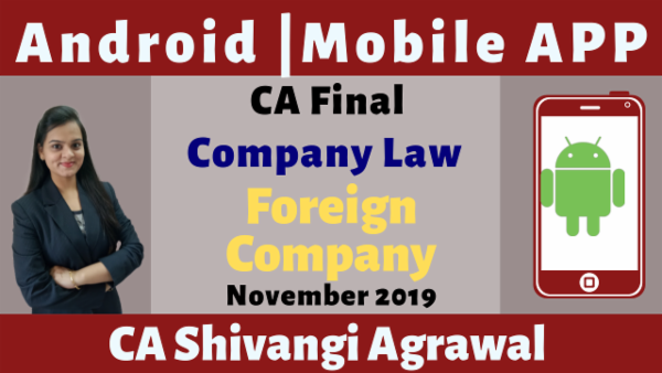 CA Final Foreign Company N19 | Mobile App cover