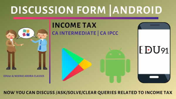 Discussion on CA Inter/IPCC Income Tax cover
