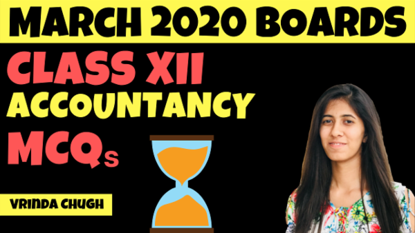 CBSE Class 12 Accountancy MCQs for March 2020 cover