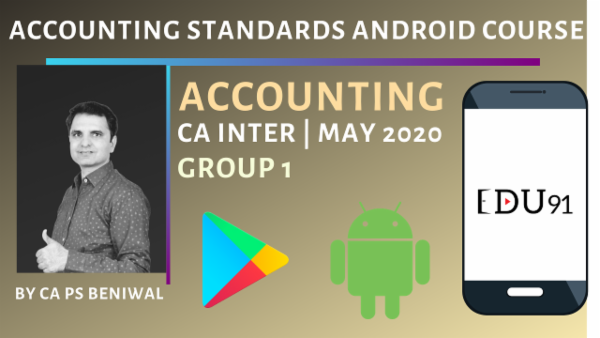 CA Inter Accounting Standards Group 1 May 2020 | Mobile App cover
