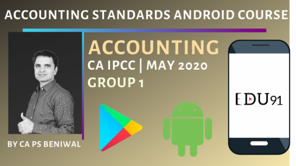 CA IPCC Accounting Standards Group 1 May 2020 | Mobile App cover