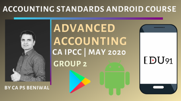 CA IPCC Accounting Standards Group 2 May 2020 | Mobile App cover