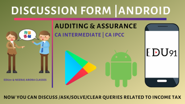 Discussion on CA Inter Auditing & Assurance cover