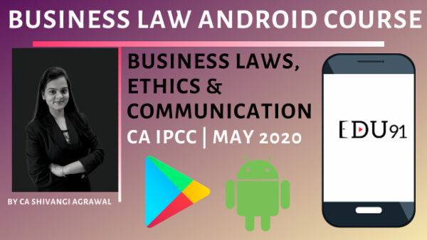 CA IPCC Business laws, Ethics & Communication for May 2020 | Mobile App cover