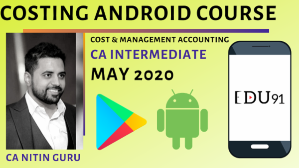 CA Inter Cost & Management Accounting for May 2020 | Mobile App cover
