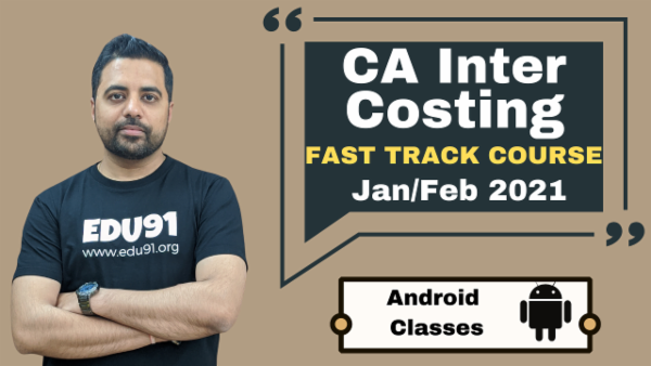 CA Inter Cost & Management Accounting Fast Track Nov 2020 | Mobile App cover