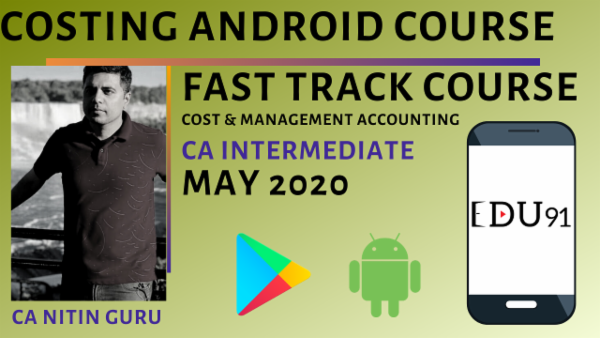 CA Inter Cost & Management Fast Track May 2020 | Mobile App cover
