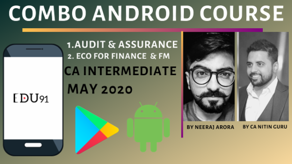 CA Inter Audit & FM Eco Combo for May 2020 | Mobile App cover