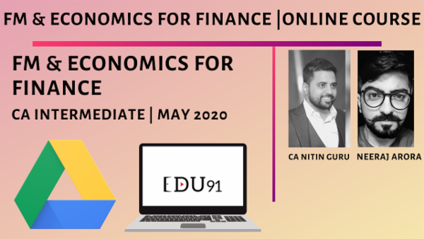 CA Inter FM & Economics for Finance for May 2020 | Online Laptop cover