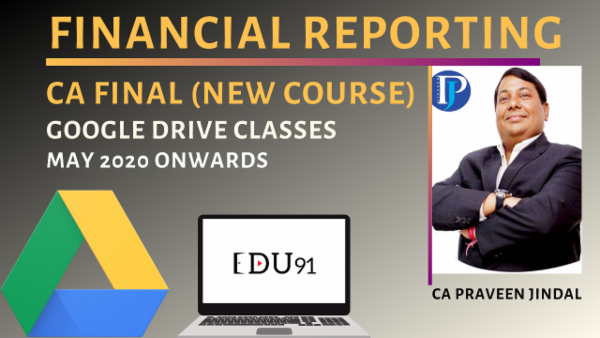 CA Final Financial Reporting New Course | Laptop Online cover