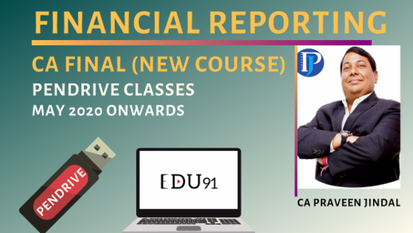 CA Final Financial Reporting New Course | Laptop PenDrive cover
