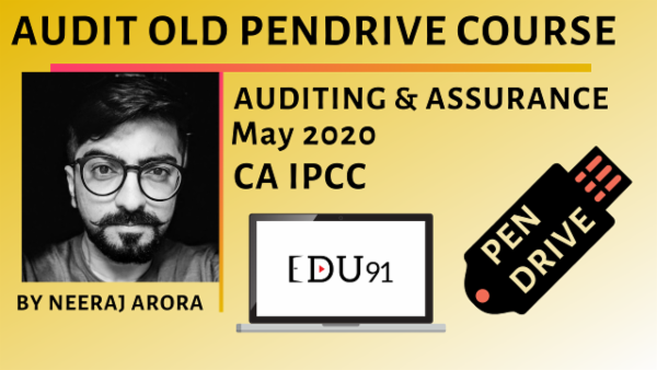CA IPCC Audit Fresh Recordings for May 2020 | PenDrive Laptop cover