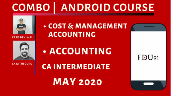 CA Inter Accounting & Cost & Management Accounting Combo for May 2020 | Mobile App cover