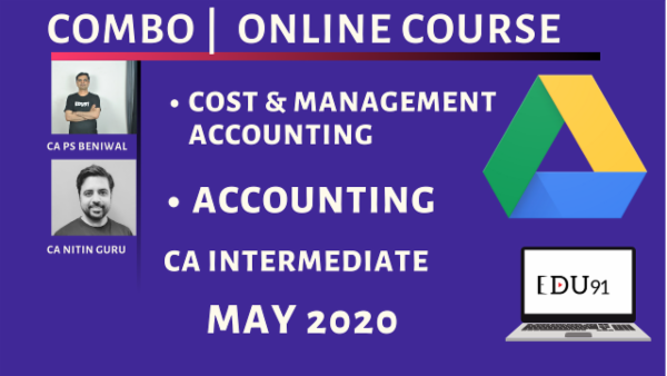 CA Inter Accounting & Cost & Management Accounting Combo for May 2020 | Laptop Online cover