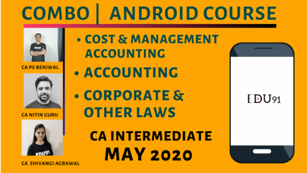 CA Inter Accounting, Cost & Management Accounting & Corporate & Other Laws Combo for May 2020 | Mobile App cover