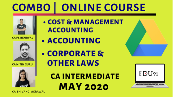 CA Inter Accounting, Cost & Management Accounting & Corporate & Other Laws Combo for May 2020 | Laptop Online cover