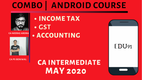 CA Inter Accounting, Income Tax & GST for May 2020 | Mobile App cover