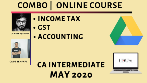 CA Inter Accounting, Income Tax & GST for May 2020 | Laptop Online cover